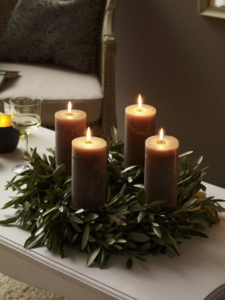 Diy christmas candle centerpieces 40 enchanting ideas for Advent decoration ideas