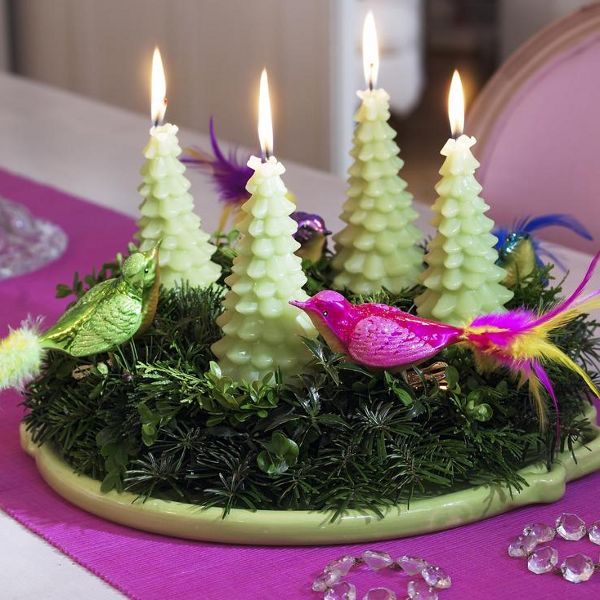 christmas-table-centerpieces-fir-tree-candles-idea-decorative-birds