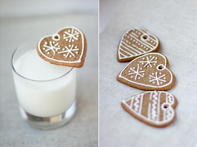 cute-christmas-treats-heart-shaped-gingerbread-cookies-milk