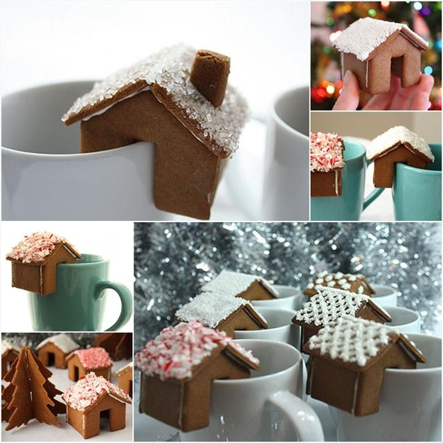 Cute christmas treats dreaming of gingerbread cookies and hot cocoa cute christmas treats mini gingerbread houses hot chocolate solutioingenieria Choice Image