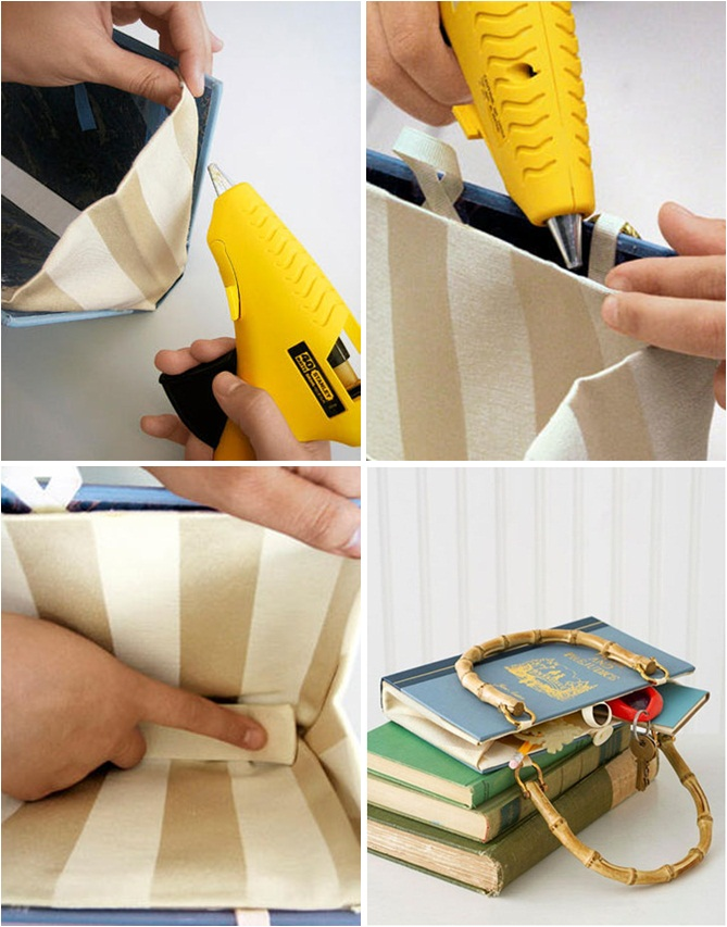 how to make book clutch