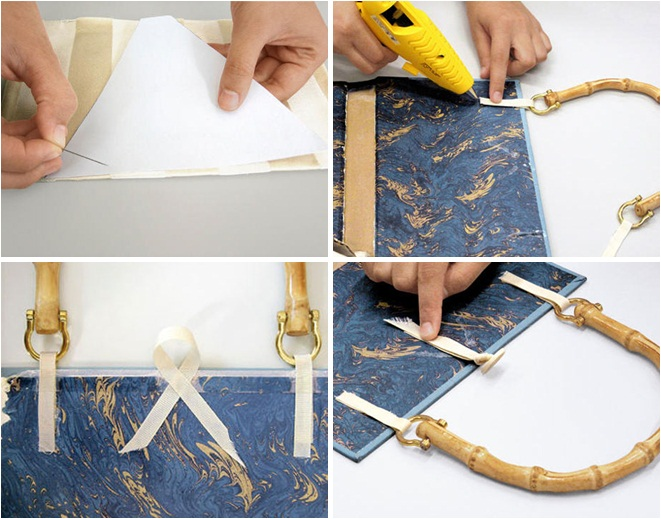 Book Cover With Handles Tutorial : Diy book cover clutch and bag the perfect gift idea for