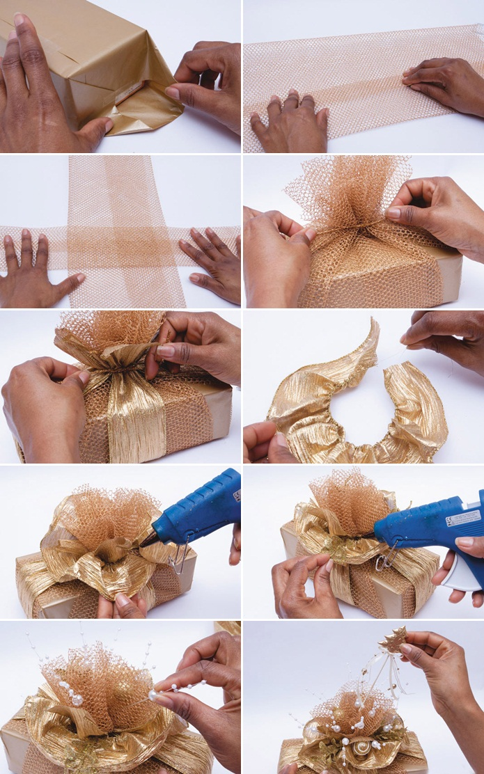 how to make wrapping bows