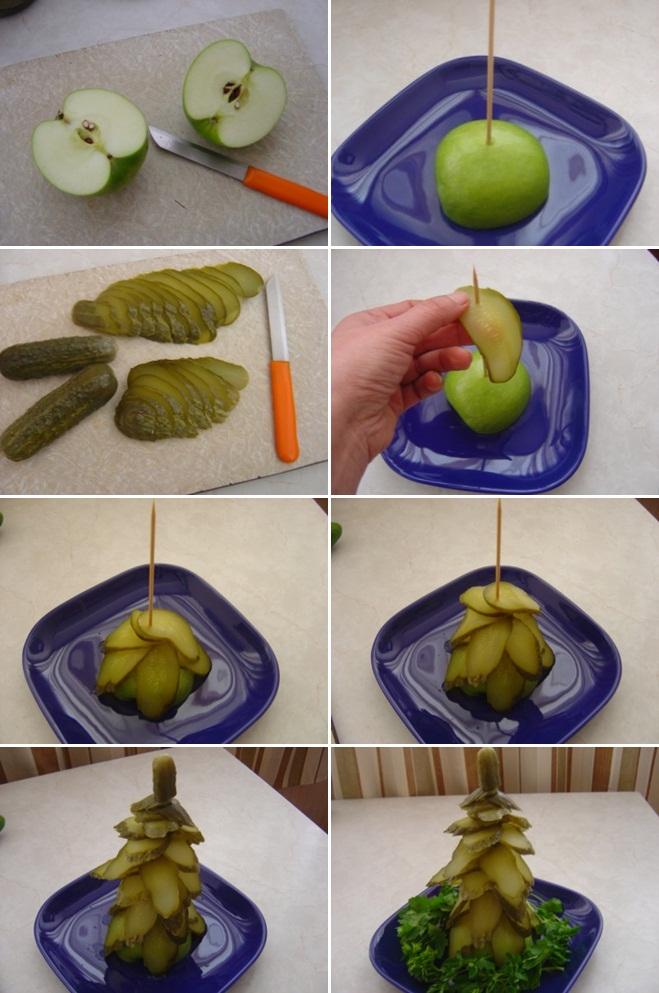 diy-edible-christmas-trees-pickles-apple-skrew-parsley