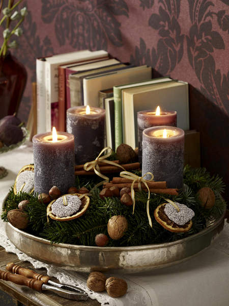 diy-festive-candle-centerpiece-rustic-motif-walnuts-cinnamon-arrangement
