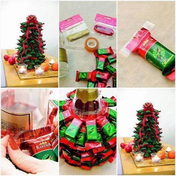 edible-christmas-trees-idea-wine-bottle-chocolates
