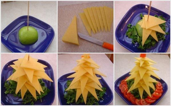 edible-christmas-trees-ideas-yellow-cheese