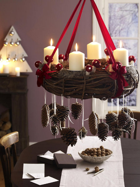 festive-table-candlestick-christmas-chandelier-ornaments-hanging-cones