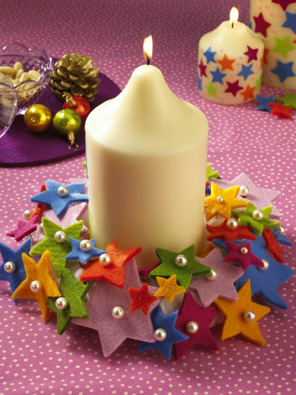 festive-table-candlestick-kids-christmas-ornaments-party-colored-stars-diy