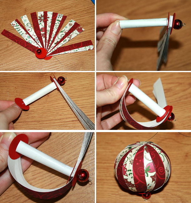 Как сделать бумажный шарик