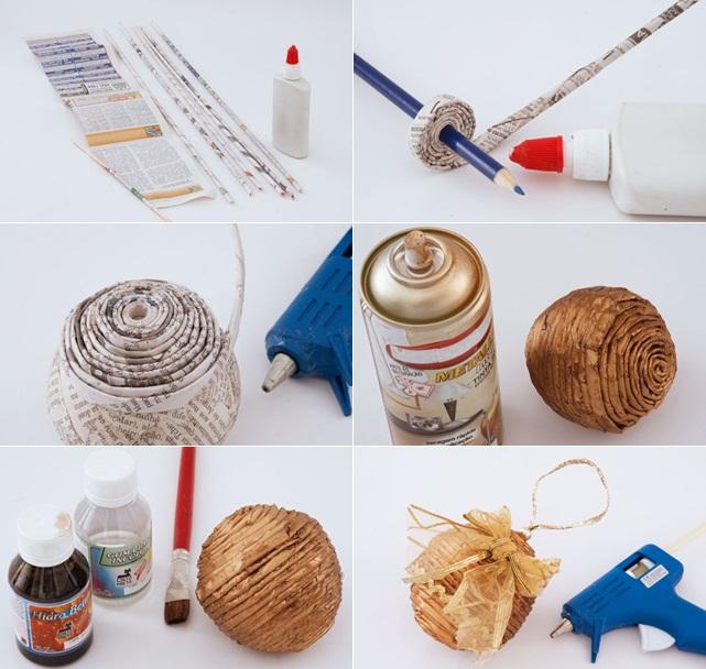 homemade-christmas-tree-ornaments-paper-foam-ball-paint
