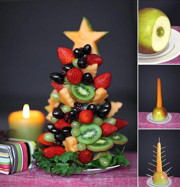 homemade-edible-christmas-trees-fruits-carrot-apple-base-sticks