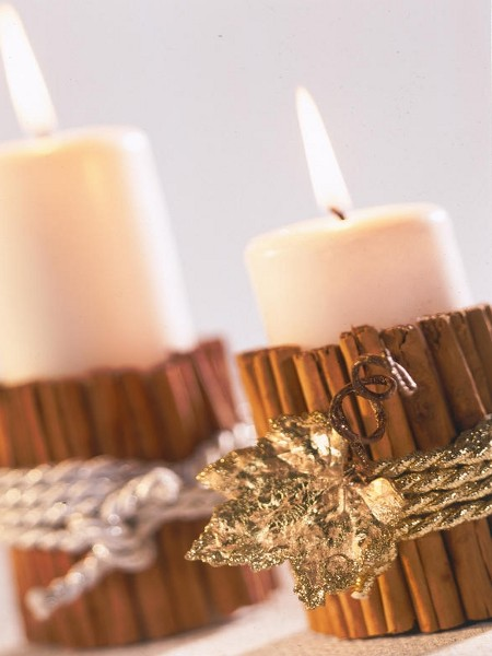 last-minute-diy-christmas-decorations-candles-cinnamon-sticks