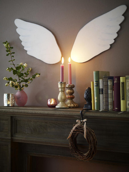 last-minute-diy-christmas-decorations-mantel-angel-wings-cardboard
