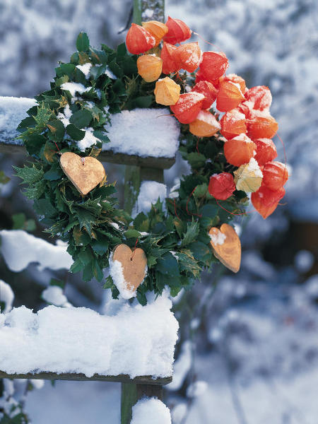 outdoor-christmas-decoration-wreath-hollies-bladder-cherries-wooden-hearts