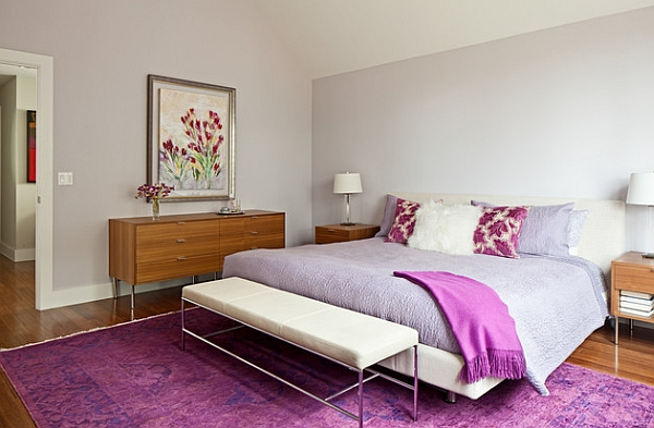 fashion color trends for 2014 rugs and decoration in purple shades