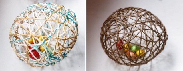 diy easter eggs yarn gift ideas kids adults chocolates