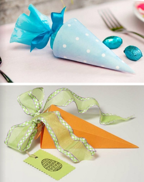 10 easter table decorations easy crafts and diy easter treat bags diy easter treat bags candy paper gift kids negle Gallery
