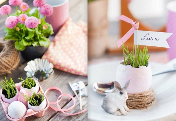 10 easter table decorations easy crafts and diy easter treat bags easter table decorations crafts place cards egg shell vases bunny easter table diy solutioingenieria Gallery