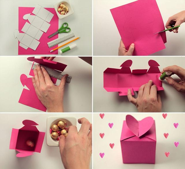 Idea original packing box of chocolates for Valentine's day