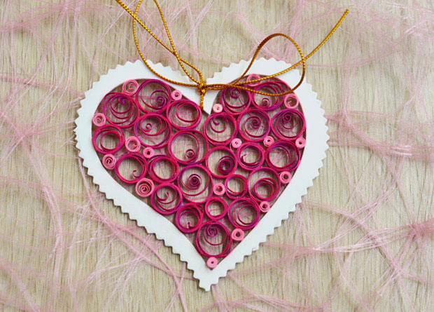valentines day craft idea for kids diy quilling paper project festive gift decoration