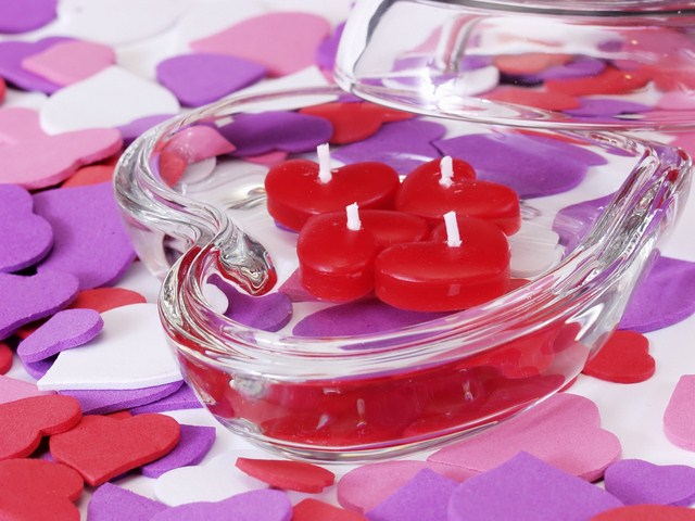 valentines day ideas home romantic mood glass bowl swimming candles