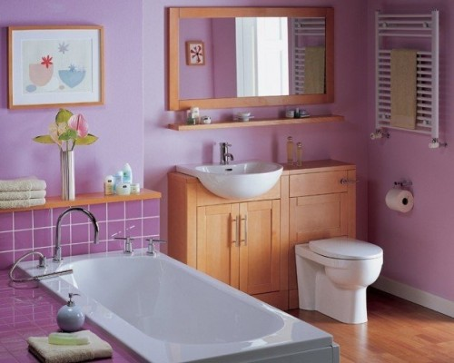 Gallery Bathroom in pink-1
