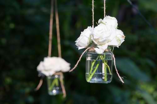 Jar as a garden lantern