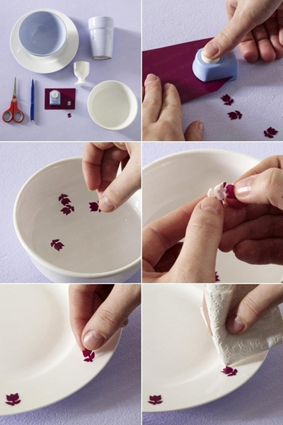 diy mothers day gift dishes decorate tulips foil