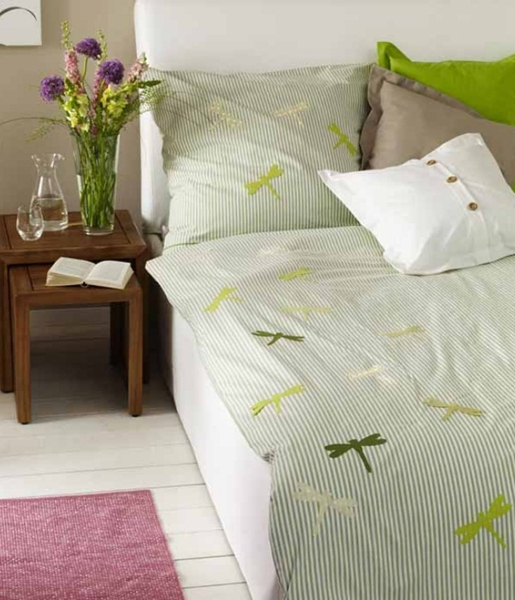 homemade Mother's day gift ideas  summer bedding dragonflies spring mood