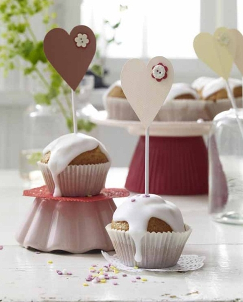 mothers day gifts cupcakes hearts toppers