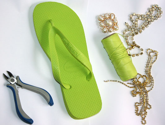 diy-rubber-green-flip-flops-needed-materials