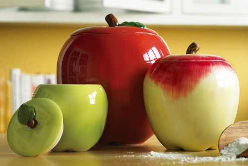 Quick ideas for decor with apples for Apple decoration kitchen