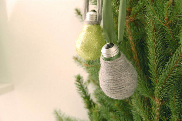 Ideas for Christmas ornaments made from light bulbs-0021
