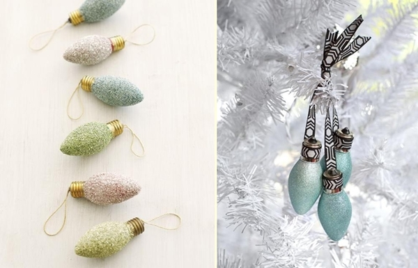 Ideas for Christmas ornaments made from light bulbs-0026