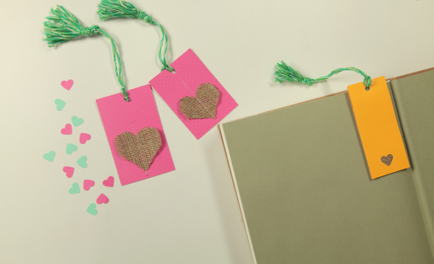valentines crafts kids easy ideas bookmark hearts burlap