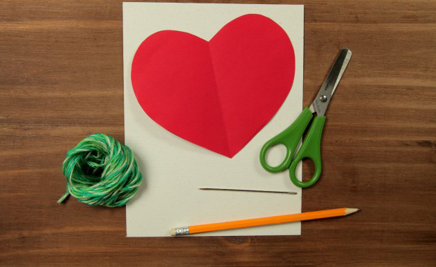 valentines day crafts kids easy ideas cards yarn heart template