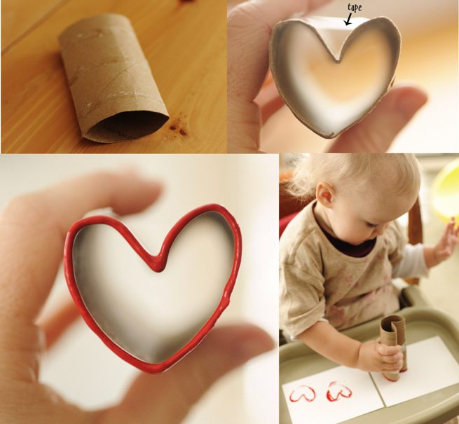 Valentine's Day crafts for kids toddlers toilet paper rolls cards easy