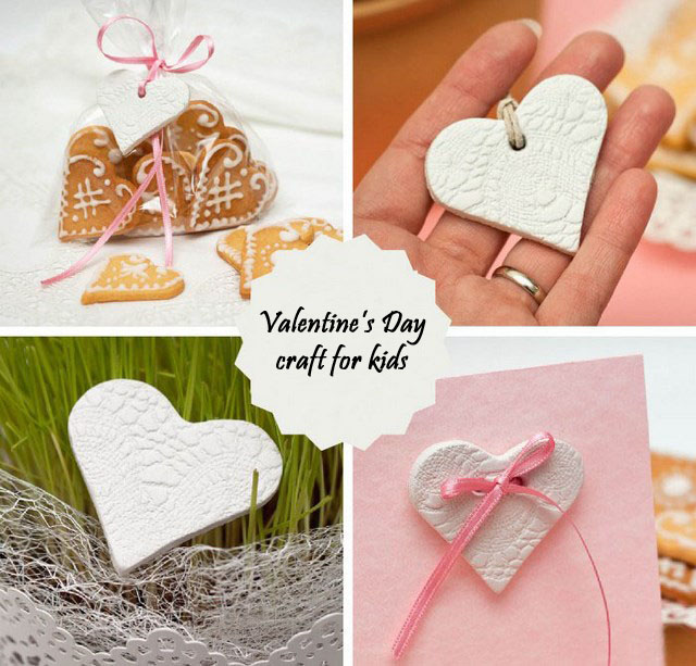 Valentine s day craft for kids easy polymer clay hearts - Different craft ideas for kids ...