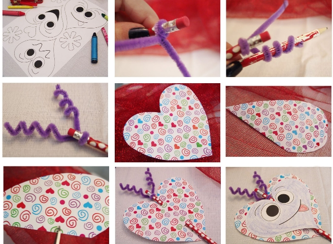 Valentine's Day crafts for kids  easy ideas handcrafted projects pencil pipe cleaners