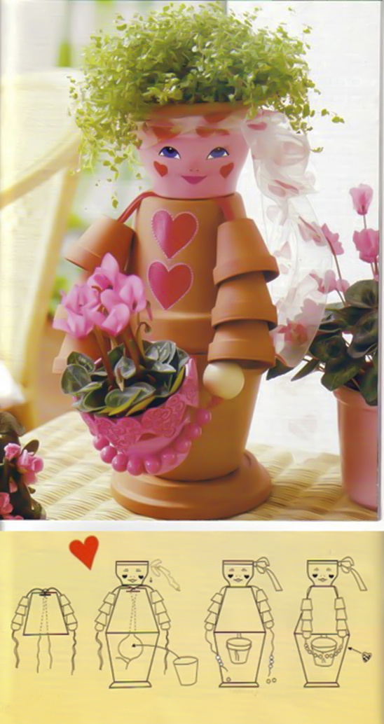 Clay flower pot crafts 25 cute designs and painting ideas - Pretty diy flower pot ideas ...