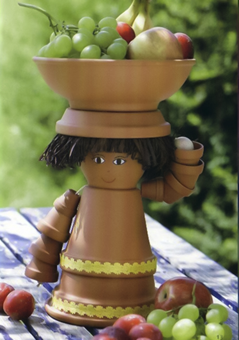 Clay flower pot crafts 25 cute designs and painting ideas for Big pot painting designs
