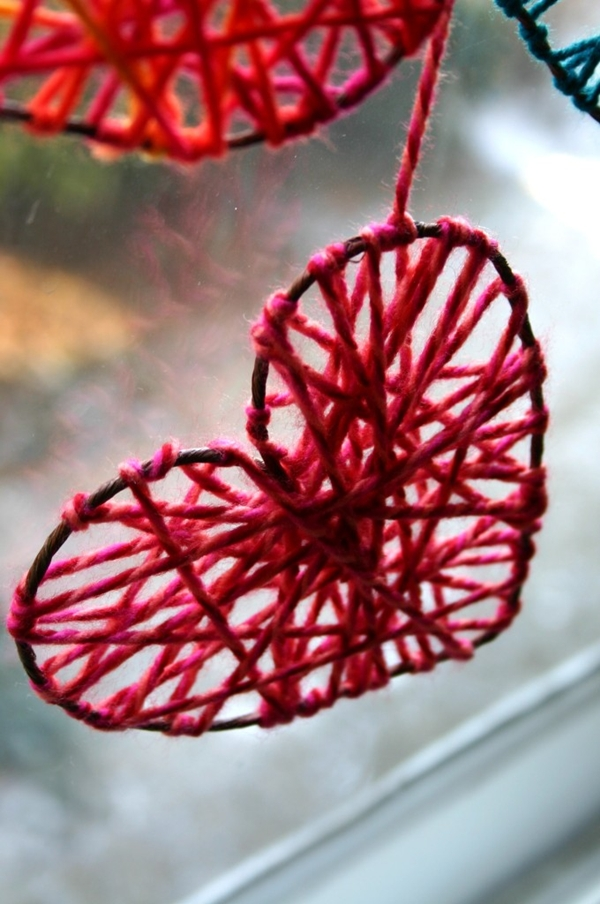 Как сделать сердце из нитки
