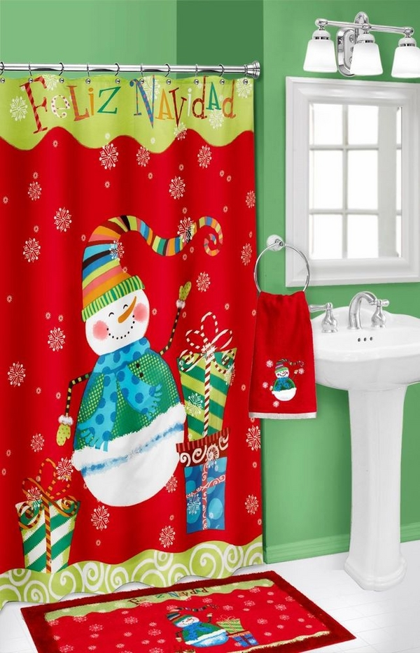 20 Christmas Shower Curtains Christmas Spirit To Make
