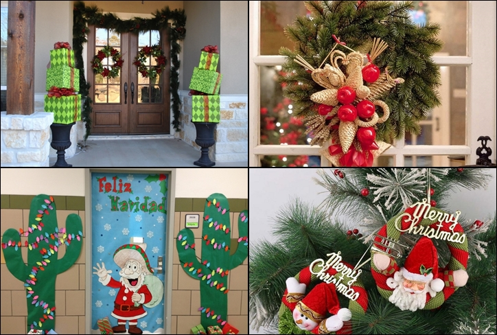 Diy Christmas Decor For Door : Christmas door decorations ideas for the front and