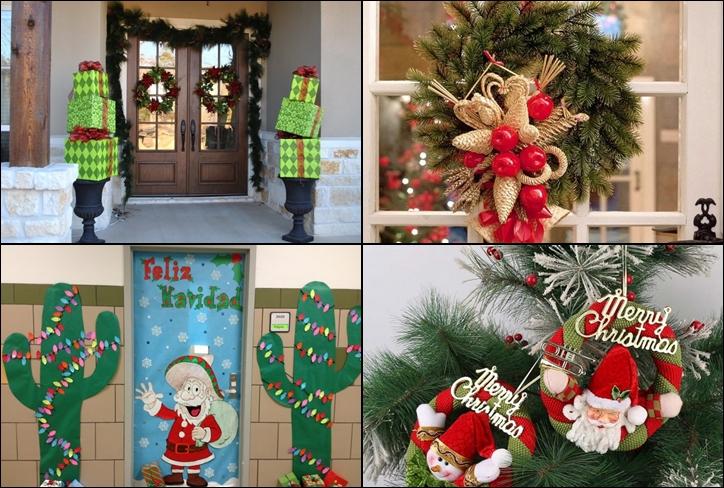 Decorating Ideas > Christmas Door Decorations – Ideas For The Front And  ~ 063522_Christmas Decorating Ideas For Inside Doors
