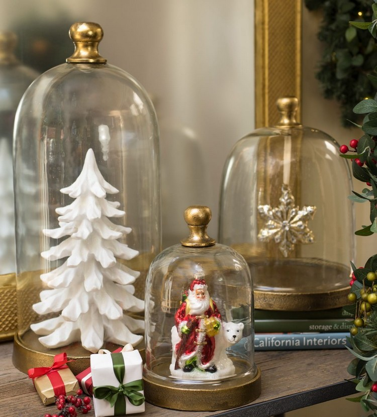 Cloche decorate for christmas nice ideas diy masters