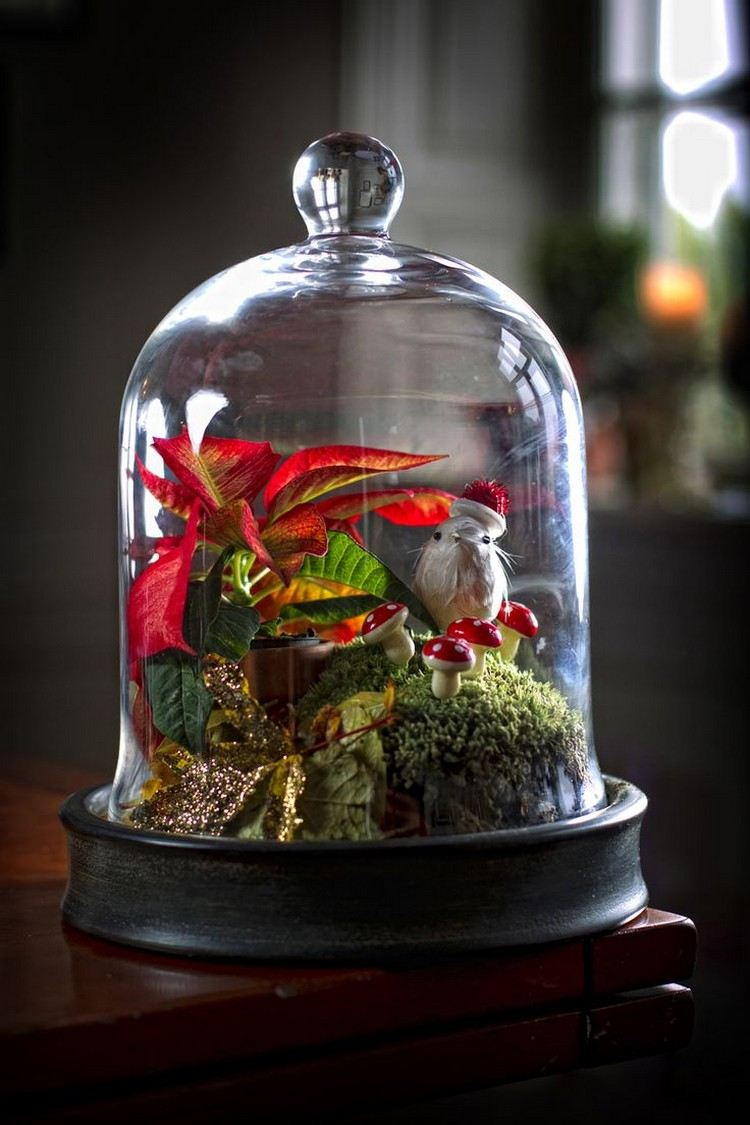 Cloche Decorate For Christmas 18 Nice Ideas Diy Masters