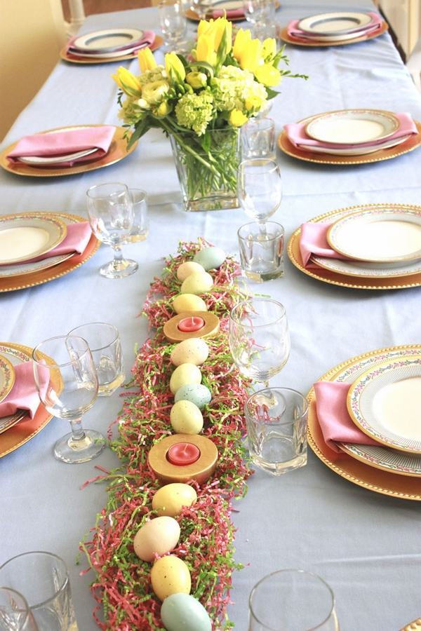 Easter table decorations awesome table setting ideas for Small table setting ideas