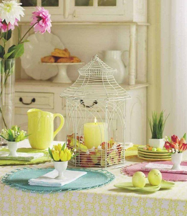 Easter table decorations awesome table setting ideas for Easter decorations ideas for the home